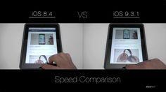 iOS 8 vs iOS 9 - iPad Speed Comparison