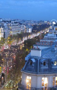 The Champs Elysées at Christmas, Paris