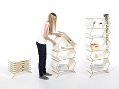 Stockwerk Foldable Shelf by Meike Harde