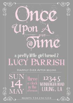 Princess birthday invitation pink crown princess invitation design printable storybook once upon a time birthday invitation filmwisefo