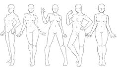 Pose Set Standing Poses Female by Anadia-Chan on DeviantArt poses female Pose Set Standing Poses Female by Anadia-Chan on DeviantArt Female Drawing Poses, Anime Poses Female, Female Pose Reference, Body Reference Drawing, Human Figure Drawing, Drawing Reference Poses, Drawing Female Body, Drawing Tips, Drawing Drawing