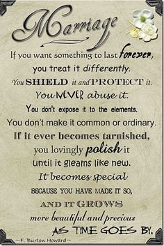 If you want something to last forever, you treat it differently.