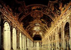 hall of mirrors in Versaille Palace, France