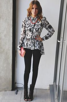 love the blouse and shoes