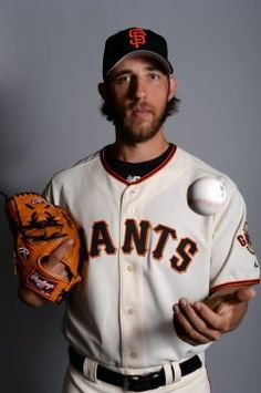 San Francisco Giants starting pitcher Madison Bumgarner (40) poses for a photo during photo day at Scottsdale Stadium.