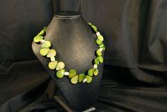 Green Teardrop Mother of Pearl by PleasanTreesJewelers on Etsy, $35.00