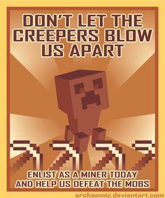 Minecraft Propaganda: Creeper by archaemic on @DeviantArt