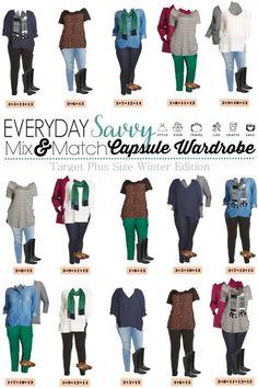 >>  Winter Plus Measurement Capsule Wardrobe From Goal