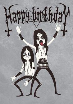 Best Birthday Quotes : Black Metal Birthday by Nemons on DeviantArt - 4 mY FrienDs - Birthday Happy Birthday Black, Funny Happy Birthday Wishes, Best Birthday Quotes, Happy Birthday Images, Happy Birthday Greetings, Birthday Messages, Birthday Pictures, Funny Birthday, Black Metal