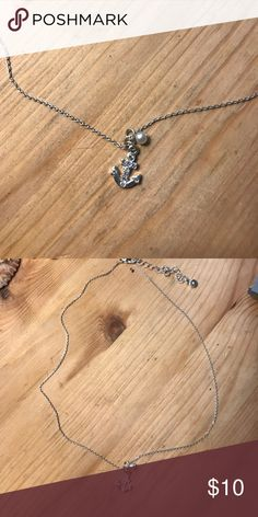 Lauren Conrad Anchor Necklace Super cute simple necklace perfect for everyday wear! LC Lauren Conrad Jewelry Necklaces