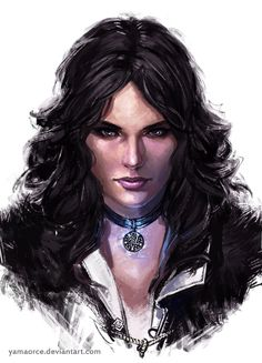 Yennefer Portrait by YamaOrce on DeviantArt