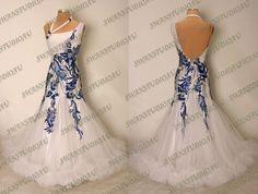 Новый готовый к носке белый жесткая сетка бальные танцы платье s US4-6