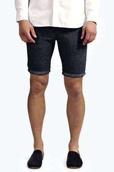 Tailored Denim Short blue