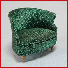 Image detail for -Petite Princess Dollhouse #4411-5 Salon Drum Chair – Teal Lamé with ...