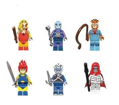 Custom Thundercats minifigures on lego bricks ninja Classic Mummra