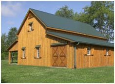 All Sizes and Styles of Horse Barn Plans at AppleValleyBarns.com