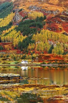 Autumn in the highlands of Scotland
