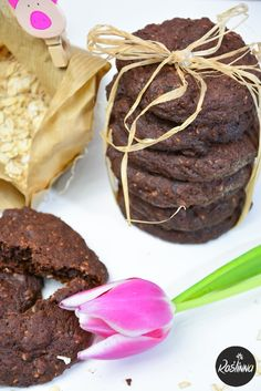 Roślinna : Proste wegańskie czekoladowe ciasteczka