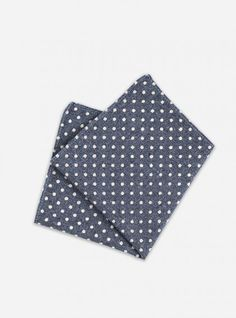 Mens Cotton Pocket Square - blue retro dots by VIDA VIDA mJ3BXMNt5