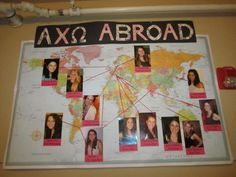 Cute idea to hang up in the chapter room so that the new PC can see where their sisters are!