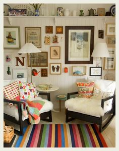 ikea pics | Love how the tiny colorful rug brings the entire room together