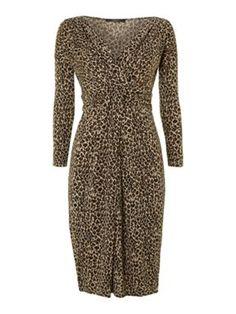 Weekend MaxMara Karim leopard print dress £155