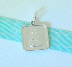 5528986d9d Tiffany & Co Silver Lexicon Square Shopping Bag Charm Pendant Mint! # TiffanyCo Dog