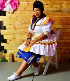 The authentic Pedi bride 'a traditional wedding 💍💍🐄 . Pedi Traditional Attire, Sepedi Traditional Dresses, South African Traditional Dresses, Traditional Wedding Attire, African Lace Dresses, Latest African Fashion Dresses, African Wedding Attire, African Attire, Couple Outfits