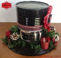 No tutorial - made out of a Can black painted - record and belt plus deco stuff