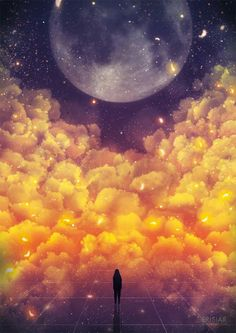 Because in the end we're all just dreamers in an endless universe. Art by Erisiar