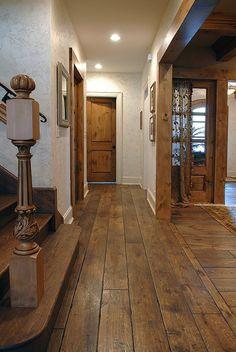 wide plank solid Vintage grade French Oak hardwood floor, custom Gray c . Oak Hardwood Flooring, Laminate Flooring, Distressed Hardwood Floors, Engineered Hardwood, Dark Flooring, Distressed Wood, Grey Wood, Terrazzo Flooring, Basement Flooring
