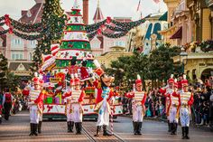 "November 7, 2015 through January 7, 2016, Disneyland Paris celebrates ""Disney's Enchanted Christmas,"" during which the park is decked out for the holidays."