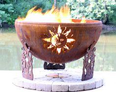 The Fire Pit Store - The Fire Pit Gallery Solar Flare Custom Steel Fire Pit -  Firebowl - 7010004-37D, $970.14 (http://www.thefirepitstore.com/the-fire-pit-gallery-solar-flare-custom-steel-fire-pit-firebowl-7010004-37d/)