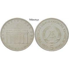 DDR, 5 Mark 1987, Brandenburger Tor, st, J. 1536: Kupfer-Nickel-5 Mark 1987. Brandenburger Tor. J. 1536; stempelfrisch 7,00€ #coins