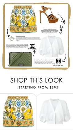 """""""Untitled #76"""" by hessa-46 ❤ liked on Polyvore featuring Dolce&Gabbana, Givenchy, Chanel, Yves Saint Laurent, Industrie and Nicole"""