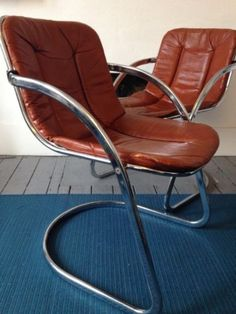 VINTAGE RETRO 60's 70's CANTILEVER CHAIRS x 2 | eBay pick up london. Buy them now price £220. Ben's reception?