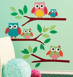 Dotty Hippo - Wallies Owls Wall Stickers, £14.00 (http://www.dottyhippo.co.uk/wallies-owls-wall-stickers/)