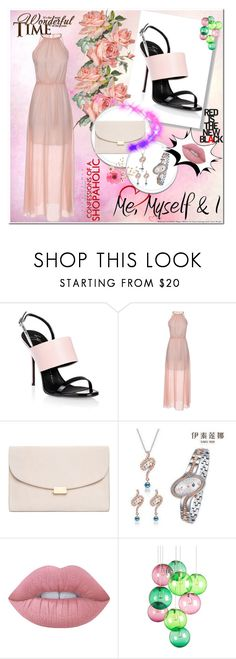 """Rose"" by s-o-polyvore ❤ liked on Polyvore featuring Giuseppe Zanotti, Mansur Gavriel, Lime Crime and Fatboy"