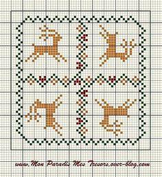 Deer biscornu pattern