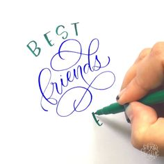 Handwriting Tutorial👉www. How To Write Calligraphy, Calligraphy Handwriting, Calligraphy Letters, Handwritten Letters, Creative Lettering, Lettering Styles, Brush Lettering, Hand Lettering Tutorial, Hand Lettering Alphabet