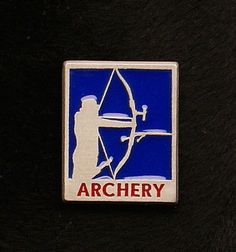Archery Man Enameled Pin Pewter Custom Made in by OnTargetJewelry