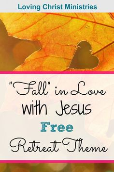 With the free Fall in Love with Jesus retreat them, we'll be reminded how Christ's love for us changes us into beautiful, colorful creations in Him. Christian Women, Christian Faith, Womens Ministry Events, Ladies Ministry Ideas, Christian Retreat, Church Activities, Youth Activities, Christian Devotions, Finding Love