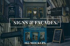 165 Signs & Facades Collection by Madebyvadim on @creativemarket