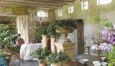 Orangerie, restoration and design by Brigitte and Alain Garnier, Garnier Antiques and Architectural Interiors, image via the Garnier (be) we...