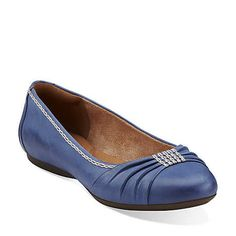 Kristiin-Clarks are the most comfortable shoe ever! Aldea Abode in Cobalt Leather - Womens Shoes from Clarks Cobalt!