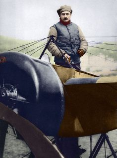 Roland Garros (1888-1918), French aviator. He was shot down and captured in April 1915, and the Dutch aircraft engineer Anthony Fokker improved Garros's design, giving German planes a massive advantage over French and English planes. Garros escaped from captivity, but was shot down and killed in October 1918, near the end of the war.