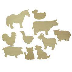 Farm Animals Templates - BJ021T07 - Bigjigs Toys