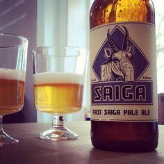 First Saiga Pale Ale. Homebrew aus Kiel #craftbeer #homebrew #kiel #saiga #paleale #beerlove #instabeer #idrinkcraft