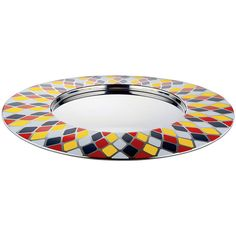 Alessi Circus Round Tray ($150) ❤ liked on Polyvore featuring home, kitchen & dining, serveware, multi, stainless steel tray, round tray, circular tray, alessi tray and alessi