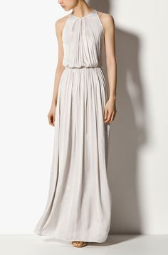 long halter neck dress // massimo dutti